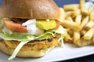 Wild Alaskan Salmon Burger - delivery menu