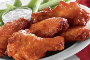 6 Piece Chicken Wings Plate - delivery menu