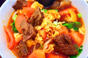 Tomato egg beef noodles - delivery menu