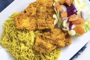 Fried Fish Platter - delivery menu