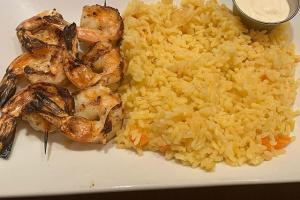 Grilled Shrimp Skewer Platter - delivery menu
