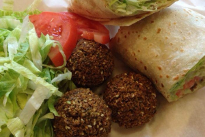 Falafel Sandwich with Pop and Fries - delivery menu