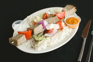 Beef-Lamb Shawarma Platter - delivery menu