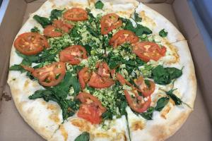 White Veggie Pizza - delivery menu