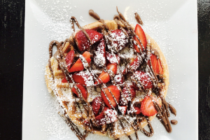 Nutella Strawberry Waffle - delivery menu