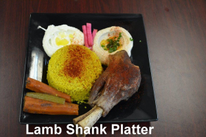 Lamb Shanks - delivery menu