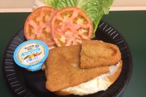 CRISPY FLOUNDER SANDWICH - delivery menu