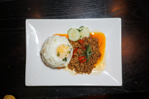 SN5. Num Prik Ong with Fried Egg Dinner Special - delivery menu