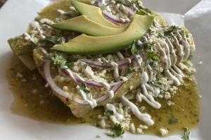 Carne Asada Enchiladas Green sauce - delivery menu