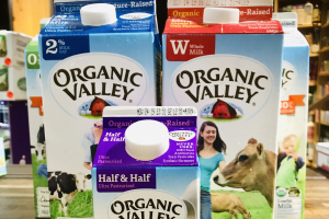 Organic Valley milk - delivery menu
