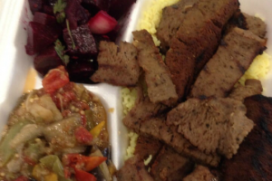 Hummus Shawarma Plate - delivery menu