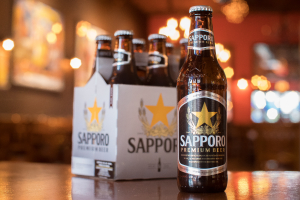 Sapporo (Pale Lager, 4.9% Alc) 12 oz Bottle or 6-Pack Bottles - delivery menu