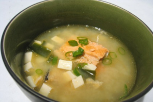 Miso Salmon Soup - delivery menu