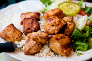 Chicken Kabob Platter - delivery menu