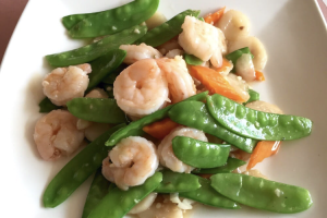 42. Prawns with Snow Peas - delivery menu