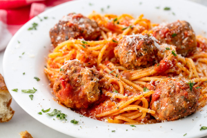 Spaghetti with Meatballs - delivery menu