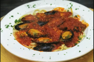 Mussels Marinara and Pasta - delivery menu