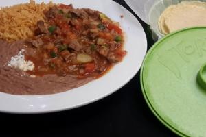 Bistek a la Mexicana - delivery menu