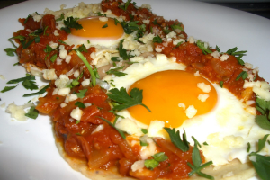 Breakfast Huevos Rancheros - delivery menu