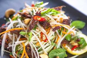 B4. Young Julienne Papaya Salad - delivery menu