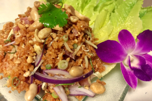 Crispy Rice Salad (Nam Khao Tod) - delivery menu