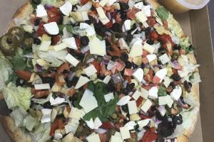"18"" Round Salad Pizza - delivery menu"
