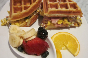 Waffle Egg Sandwich - delivery menu