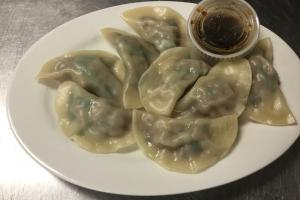 6. 8 Steamed Dumplings - delivery menu