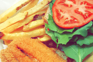 Southern Fried Catfish Sandwich and Fries - delivery menu