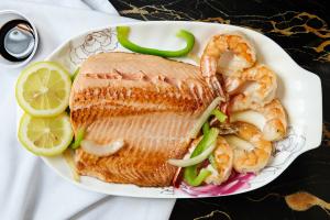 Filler Salmon and Jumbo Shrimp Combo - delivery menu