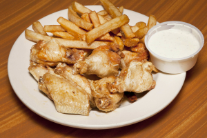 2. Chicken Wings, Fries and Drink Lunch Special - delivery menu