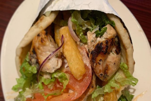 Chicken Souvlaki Sandwich - delivery menu