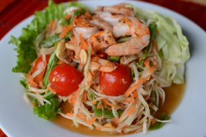 Papaya Salad with Shrimp - delivery menu