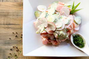 Spring  Salad with Sour Cream - delivery menu