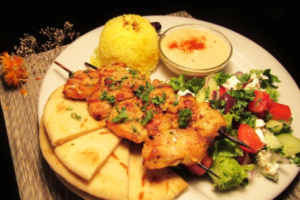 Chicken Kebab Plate - delivery menu