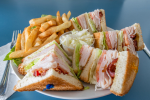 Turkey Club Sandwich with Bacon - delivery menu