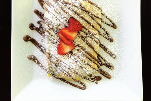 Nutella Strawberry and Banana Crepe - delivery menu