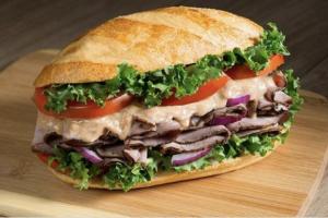 Deluxe Roast Beef Sandwich - delivery menu