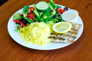 Grilled Salmon Platter - delivery menu