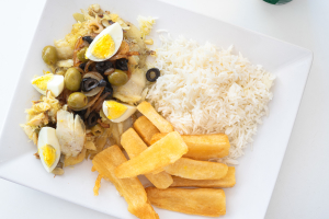 Baked Bacalhau ( Cod Fish ) - delivery menu