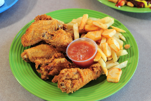 6 Piece Fried Wings Dinner - delivery menu