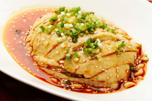 A19.Poached Chicken in Chili Oil - delivery menu