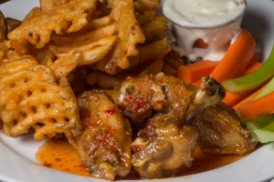 6 Wings and Fries - delivery menu