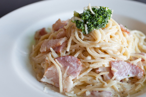 Bacon Carbonara Cream Pasta - delivery menu