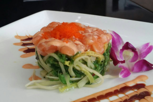 Salmon Sashimi Salad - delivery menu