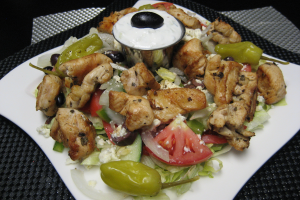 Grilled Chicken Breast Salad - Freshly prepared & Made-to-Order Grecian Salad - delivery menu