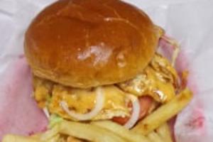 Chicken chipotle sandwich w/fries - delivery menu