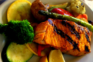 GRILLED SALMON BOWL - delivery menu