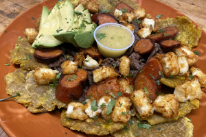 Picadera Pork, Chorizo, fried cheese - delivery menu
