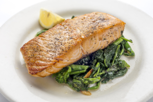 Pan-Roasted Salmon - delivery menu
